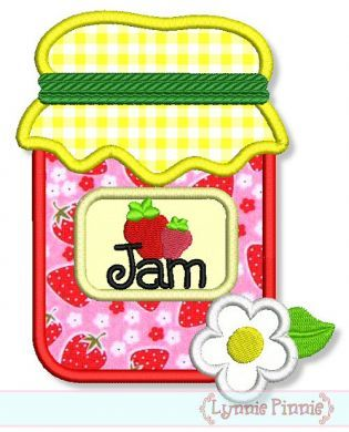 Strawberry Jam Applique 4x4 5x7 6x10