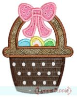 Easter Basket Applique 4x4 5x7 6x10