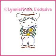 ColorWork Cutie Cowboy Sheriff Machine Embroidery Design File 4x4 5x7 6x10