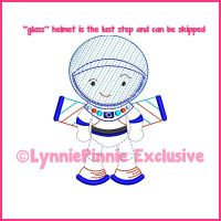 ColorWork Cutie Space Explorer Boy Machine Embroidery Design File 4x4 5x7 6x10