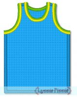 Free Basketball Jersey Applique 4x4 5x7