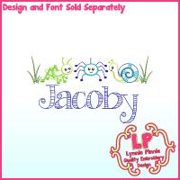 ColorWork Bugs Machine Embroidery Design 4x4 5x7 6x10