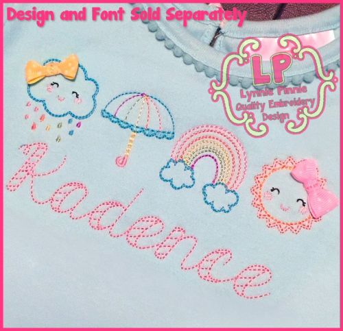 ColorWork Rain N Shine Machine Embroidery Design 4x4 5x7 6x10