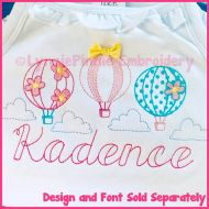 ColorWork Hot Air Balloons Machine Embroidery Design 4x4 5x7 6x10