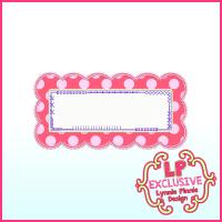 Funky Patch Rectangle Scallop 2 Applique Machine Embroidery Design File 4x4 5x7 6x10
