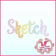 Whimsy Doodle Sketch Fill Font Uppercase & Lowercase DIGITAL Embroidery Machine File -- 3 sizes + BX