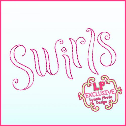 Whimsy Swirls Triple Run Doodle Font Uppercase & Lowercase Exclusive LP DIGITAL Embroidery Machine File -- 3 sizes + BX