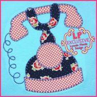 Bold Blanket Vintage Phone Machine Embroidery Design File 4x4 5x7 6x10