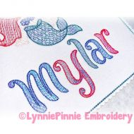 Whimsy Sparkle Optional Mylar Font Uppercase & Lowercase Exclusive LP DIGITAL Embroidery Machine File -- 3 sizes + BX