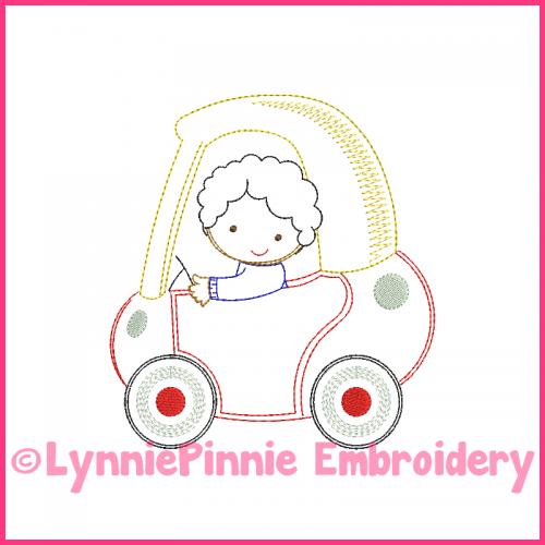 ColorWork Coupe Boy 2 Machine Embroidery Design 4x4 5x7 6x10