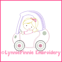 ColorWork Coupe Girl 1 Machine Embroidery Design File 4x4 5x7 6x10