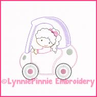 ColorWork Coupe Girl 2 Machine Embroidery Design 4x4 5x7 6x10