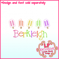 Mini Sketch Fill Popsicle Row Machine Embroidery Design File 4x4 5x7 6x10