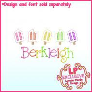 Mini Sketch Fill Popsicle Row Machine Embroidery Design File 4x4 5x7 6x10