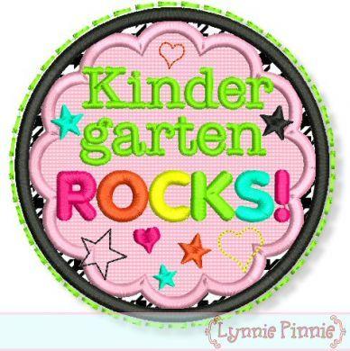 Kinder Rocks Applique Circle Scallop 4x4 5x7 6x10