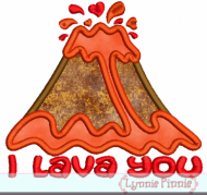 I Lava You Volcano Applique 4x4 5x7 6x10 7x11 SVG