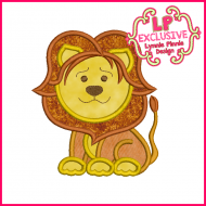 Lion Applique Design 4x4 5x7 6x10 7x11