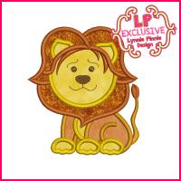 Lion Applique Design 4x4 5x7 6x10 7x11