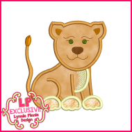 Lioness Applique Design 4x4 5x7 6x10