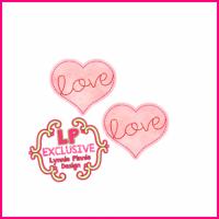Love Heart Felt Clippie Design - 2 sizes