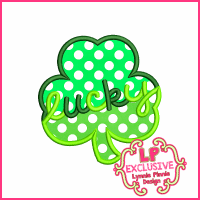 Lucky Shamrock Applique Design 4x4 5x7 6x10 7x11