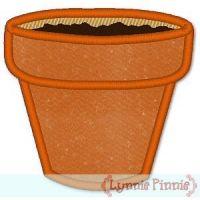 Applique Flower Pot 4x4 & 5x7