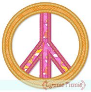 Free Peace Sign Applique 4x4 5x7
