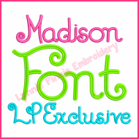 Madison Embroidery Font - Exclusive Hand-drawn alphabet in 5 sizes! BX