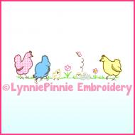 Simple Chickens Applique Machine Embroidery Design 4x4 5x7 6x10 7x11