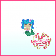 Colorful Mini Mermaid Filled Machine Embroidery Design File 4x4 5x7 6x10