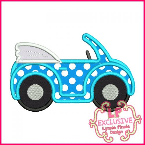 Convertible Buggy Car Applique Embroidery Design File 4x4 5x7 6x10 7x11