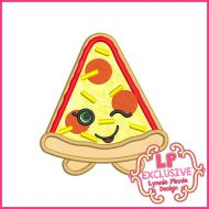 Cutie Pizza Slice Machine Embroidery Design File 4x4 5x7 6x10
