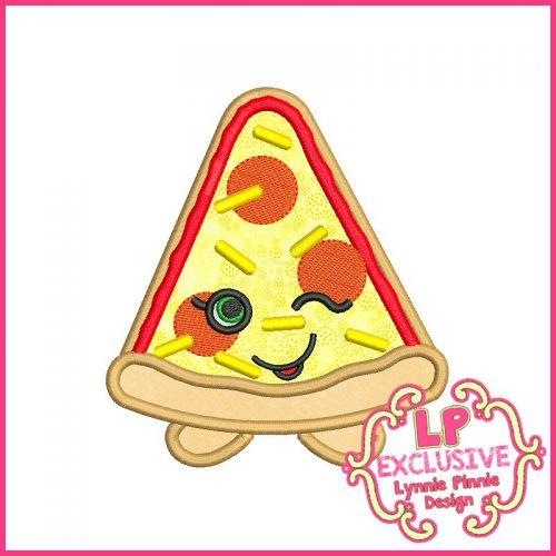 Cutie Pizza Slice Machine Embroidery Design File 4x4 5x7 6x10