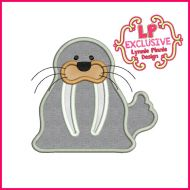 Walrus Applique Machine Embroidery Design File 4x4 5x7 6x10 7x11