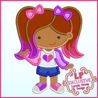 Heartbreaker Mismatched Cutie Applique Machine Embroidery Design File 4x4 5x7 6x10 7x11