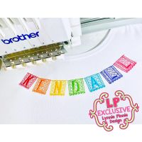 Papel Picado Paper Banner Fiesta Font Uppercase & Lowercase Font DIGITAL Embroidery Machine File -- 4 sizes + BX