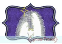 Nativity Silhouette Applique 4x4 5x7
