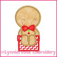 Sitting Ginger Boy Applique 4x4 5x7 6x10 Machine Embroidery Digital Design File