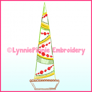 Fancy ColorWork Christmas Tree 3 Machine Embroidery Design File 4x4 5x7 6x10