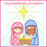 Nativity Bold Blanket Stitch Applique Machine Embroidery Design File 4x4 5x7 6x10