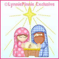 Nativity Bold Blanket Stitch Applique Machine Embroidery Design File 4x4 5x7 6x10