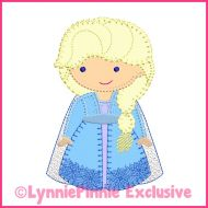 Bold Blanket New Winter Queen Applique Machine Embroidery Design File 4x4 5x7 6x10