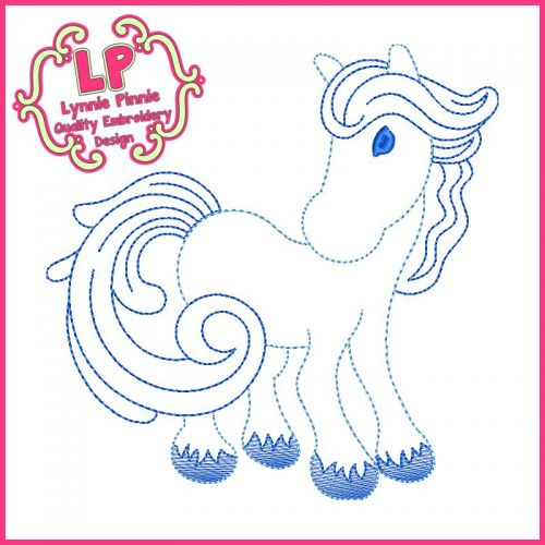 ColorWork Winter Horse Machine Embroidery Design File 4x4 5x7 6x10
