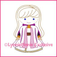 ColorWork New Snow Princess Machine Embroidery Design File 4x4 5x7 6x10