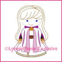 ColorWork New Snow Princess Machine Embroidery Design File 4x4 5x7 6x10