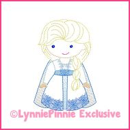 ColorWork New Winter Queen Machine Embroidery Design File 4x4 5x7 6x10