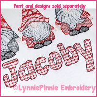 Fair Isle Pattern 2 Color Manatee Font Uppercase & Lowercase DIGITAL Embroidery Machine File -- 3 sizes + BX