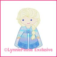 Sketch Fill New Winter Queen Machine Embroidery Design File 4x4 5x7 6x10