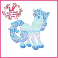 Sketch Fill Winter Horse Machine Embroidery Design File 4x4 5x7 6x10
