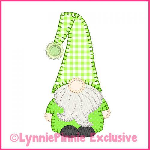 Winter Gnome Boy 1 Blanket Stitch Applique Machine Embroidery Design File 4x4 5x7 6x10